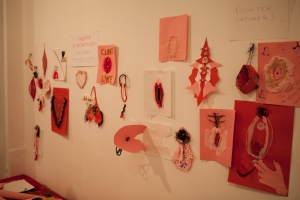 Vagina Art made by exhibit visitors Photo Credit: 101 Vagina http://tinyurl.com/mmgyyme