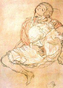 Masturbation, by Gustav Klimt Wikipedia Commons:  http://tinyurl.com/m743nxn